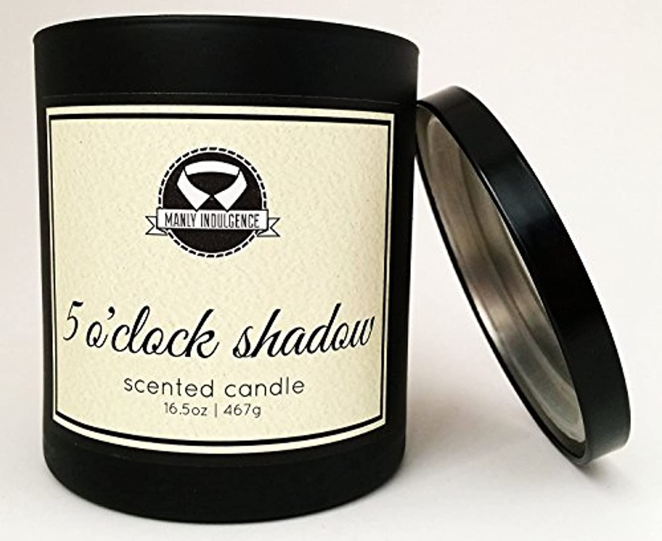 支配的顕著出撃者Manly Indulgence ミッドナイト香り付きキャンドル 芯1個 16.5オンス 16.5 oz ブラック 1