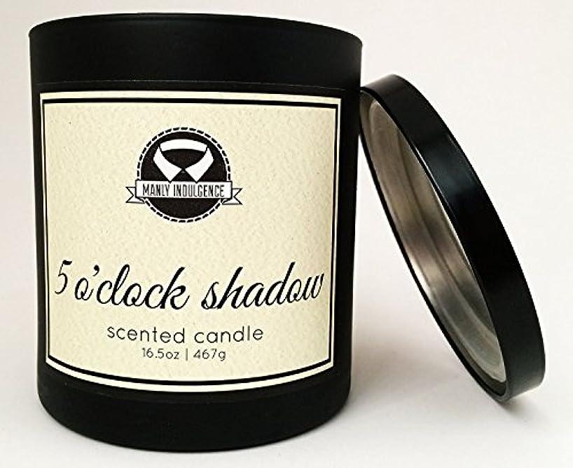 やさしく作曲家たるみManly Indulgence ミッドナイト香り付きキャンドル 芯1個 16.5オンス 16.5 oz ブラック 1