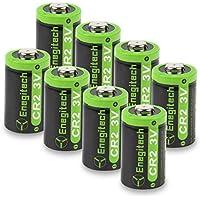 Enegitech 8個 CR2 3V 800mAhカメラ用リチウム電池 非充電式 懐中電灯 デジタルカメラ ビデオカメラ トーチ ベイモニター用のPTC保護付き