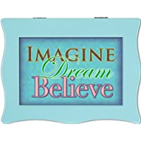 Cottage Garden Imagine Aqua Digital Music Box / Jewellery Box Plays Don'T Stop Believin'