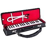 Mugig 鍵盤ハーモニカ ピアニカ りん青銅リード ABS樹脂製 軽量 f-f3 ブラック M-37F