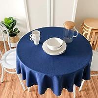レストラン防水テーブルクロスホテルサプライラウンドテーブルクロスファブリックラウンドホーム (色 : Gray, サイズ さいず : W160*L160CM)