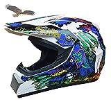 X.N.S(希望)バイクヘルメット オフロード ヘルメット 2016 モンスター上陸 (L, WHITE)