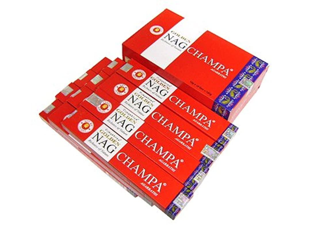 ゲームキルト移動するVIJAYSHRE(ヴィジェイシリー ゴールデン) NAG CHAMPA ゴールデン ナグチャンパ香 スティック 12箱セット