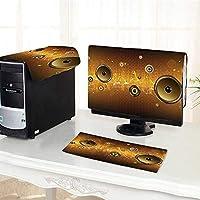 "Jiahonghome コンピュータ 3ピース ダストカバースピーカー アーバンパーティーシーン 電子楽器 DJ ディスコダンシングデザイン コンピューターを保護 17インチ W27"" x H32""/W8"" x L20""/W12"" x L20"" /29"" DNZ-f-8-08921/xK68xG82/jK20xC50/zK30xC50"