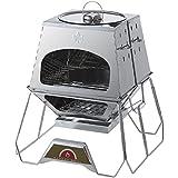 ロゴス(LOGOS) バーベキューコンロ 焚き火台 the KAMADO 多機能調理グリル ダッチオーブン使用可 ピザ窯