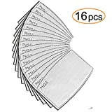 16 Pack Air Pollution Face Mask Filters – Compatible with N99 and N95 Masks – Protect Against Dust, Smoke, Gas and Allergies Etc.