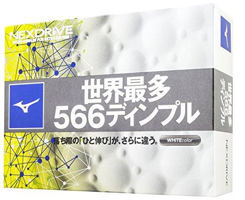 MIZUNO GOLF (ミズノゴルフ) ゴルフボール ネクスドライブ ゴルフボール 12P  5NJBM3281012P ホワイト(10)