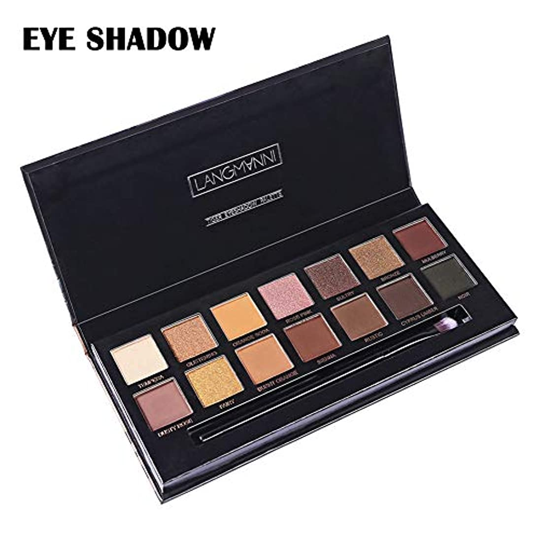 環境に優しい大陸変数Symboat 1Pcs 14色 Eye Shadow アイシャドウパレット メイクパレット アイシャドウベース 化粧 マット グリッター 長持ち 高発色 自然立体