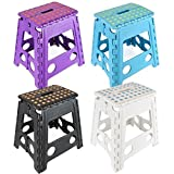 Wham Talll Folding Foldable Multi Purpose Easy Storage Plastic Step Stool in Various Colours [並行輸入品]
