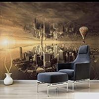 Xbwy カスタム3D壁画ドリームシティリビングルームのソファの背景壁紙シティ壁紙家の壁紙デザイン-120X100Cm