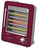 森田電工 電気ストーブスチーム機能付き MS-QS900C-R ワインレッド