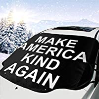 WBDLJHA車用サンシェード Make America Kind Again フロントガラス 日よけ- 紫外線を遮断するサンバイザープロテクター、サンシェードはあなたの車を涼しく保ちます、ミラー・ポケット・フィットセダンとハッチバック(147*118cm)