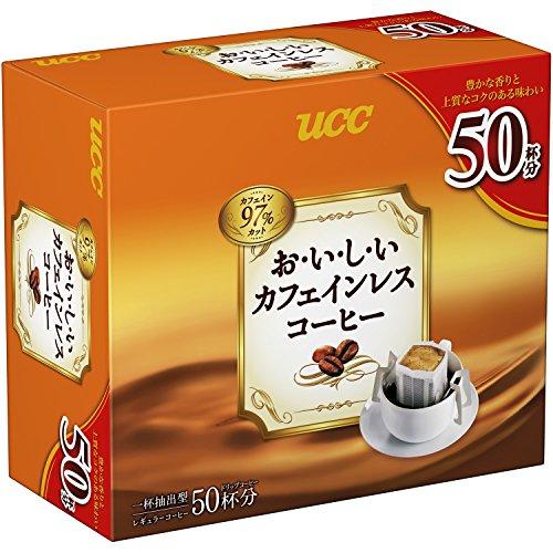 UCC おいしいカフェインレスコーヒー ドリップコーヒ 350g 7g ×50袋 ノンカフェイン レギュラー(ドリップ)