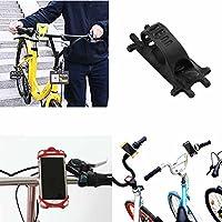k-outdoor スマホホルダー クリップ式 自転車/バイク用 スマホスタンド iPhone Android 固定用 チスマートフォンマウント 6インスマホ対応 シリコン製 多機種対応 脱落防止 超軽量 耐久性 取り付け簡単 (ブラック)