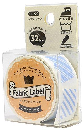 KAWAGUCHI(カワグチ) ファブリックテープ クラウンアクア 32枚入り 11-229