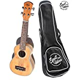 Best Beginner Ukulele - Unique Built In Self-Teaching System. Official Spot On Ukes SOU-1. No Lessons needed. Beautiful Bamboo Soprano Ukulele. Carry Bag Included. Quickest Way to Learn. (SOU-1)