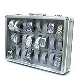 img_アルミ製腕時計ケース 24個収納 お気に入りの時計のコレクションケースに 鍵付き
