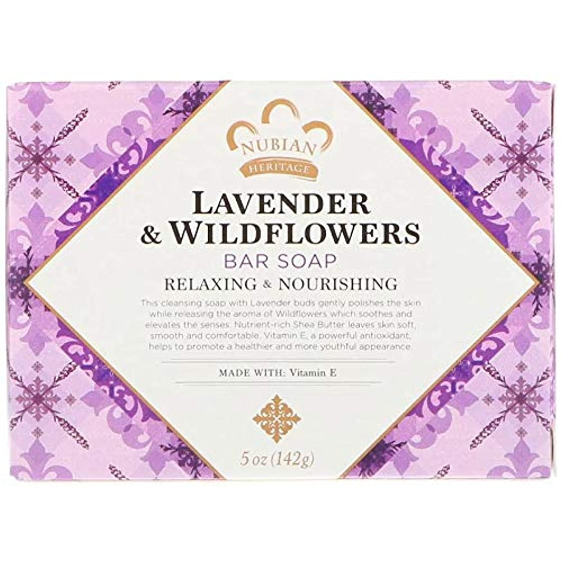 観光見捨てられた人シアバターソープ石鹸 ラベンダー&ワイルドフラワー Lavender & Wildflowers Bar Soap, 5 oz (142 g) [並行輸入品]
