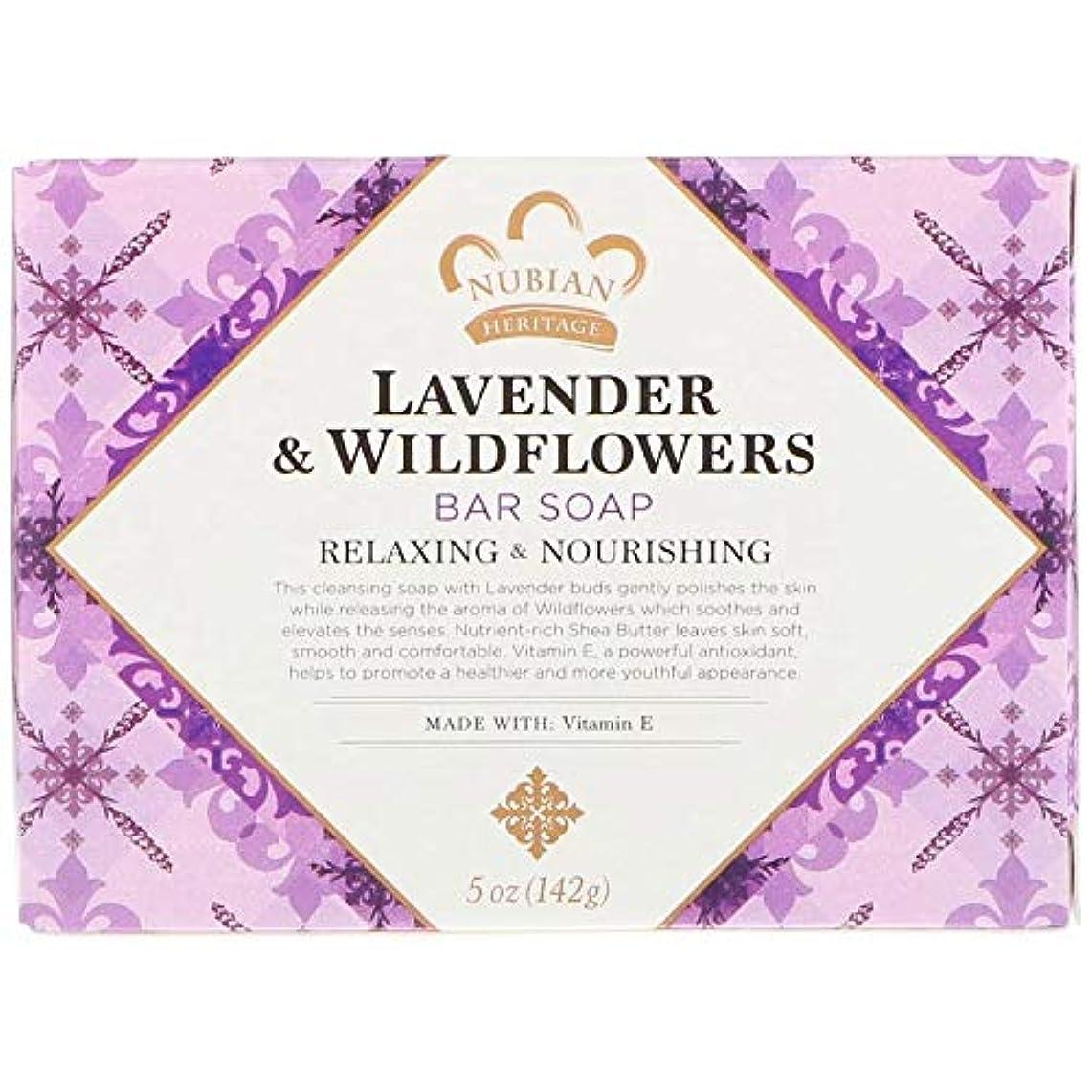 誇張する申請中困惑シアバターソープ石鹸 ラベンダー&ワイルドフラワー Lavender & Wildflowers Bar Soap, 5 oz (142 g) [並行輸入品]