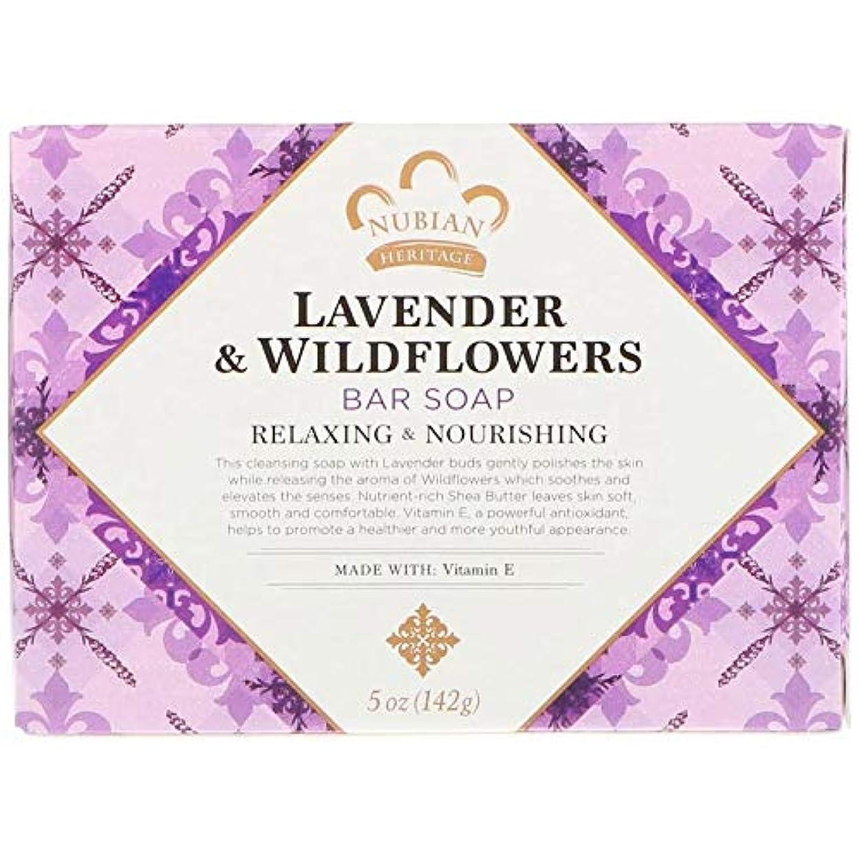 持続的費やす織機シアバターソープ石鹸 ラベンダー&ワイルドフラワー Lavender & Wildflowers Bar Soap, 5 oz (142 g) [並行輸入品]