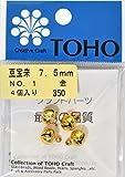 TOHO 豆宝来鈴 約7.5mm No.1 金 4ヶ入り