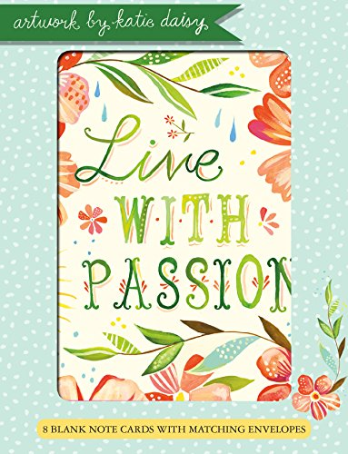 Live With Passion Boxed Blank Notes: 8 Cards, 4 Each of 2 Designs, With Envelopes