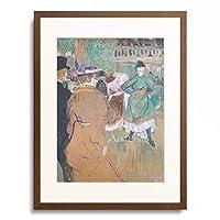 アンリ・ド・トゥールーズ=ロートレック Henri Marie Raymond de Toulouse-Lautrec-Monfa 「Quadrille at the Moulin Rouge, 1892.」 額装アート作品