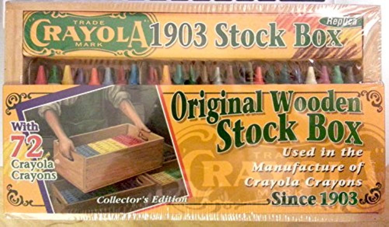 Crayola 1903レプリカストックボックスwith 72 Crayolaクレヨン
