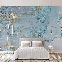 Wxmca カスタム写真の壁紙3Dステレオブルーテクスチャ大理石の壁紙壁画リビングルームテレビソファ寝室研究の装飾-120X100Cm