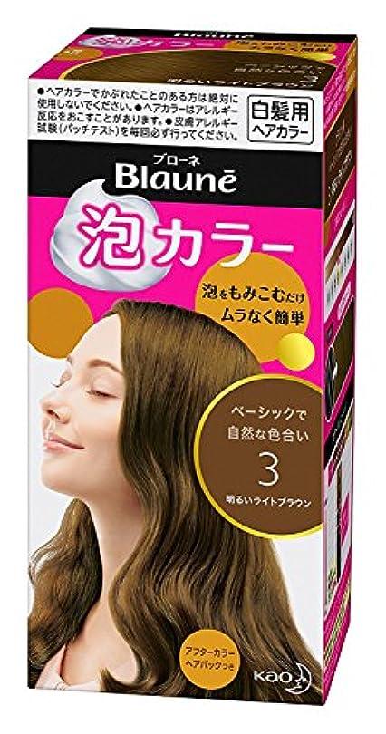 ログ十ヒゲ【花王】ブローネ泡カラー 3 明るいライトブラウン 108ml ×20個セット