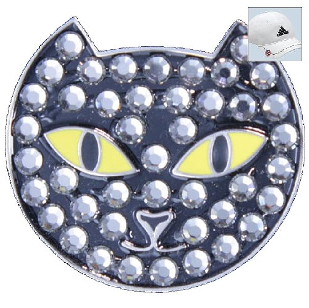 撃退する欲求不満栄光のBellaクリスタルゴルフボールマーカー&帽子クリップ – 黒猫
