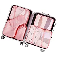 2018 Packing Cubes Luggage Organisers TravelClothing Laundry Bag Toiletry Bag and Electronics Accessories Pouch 6 set