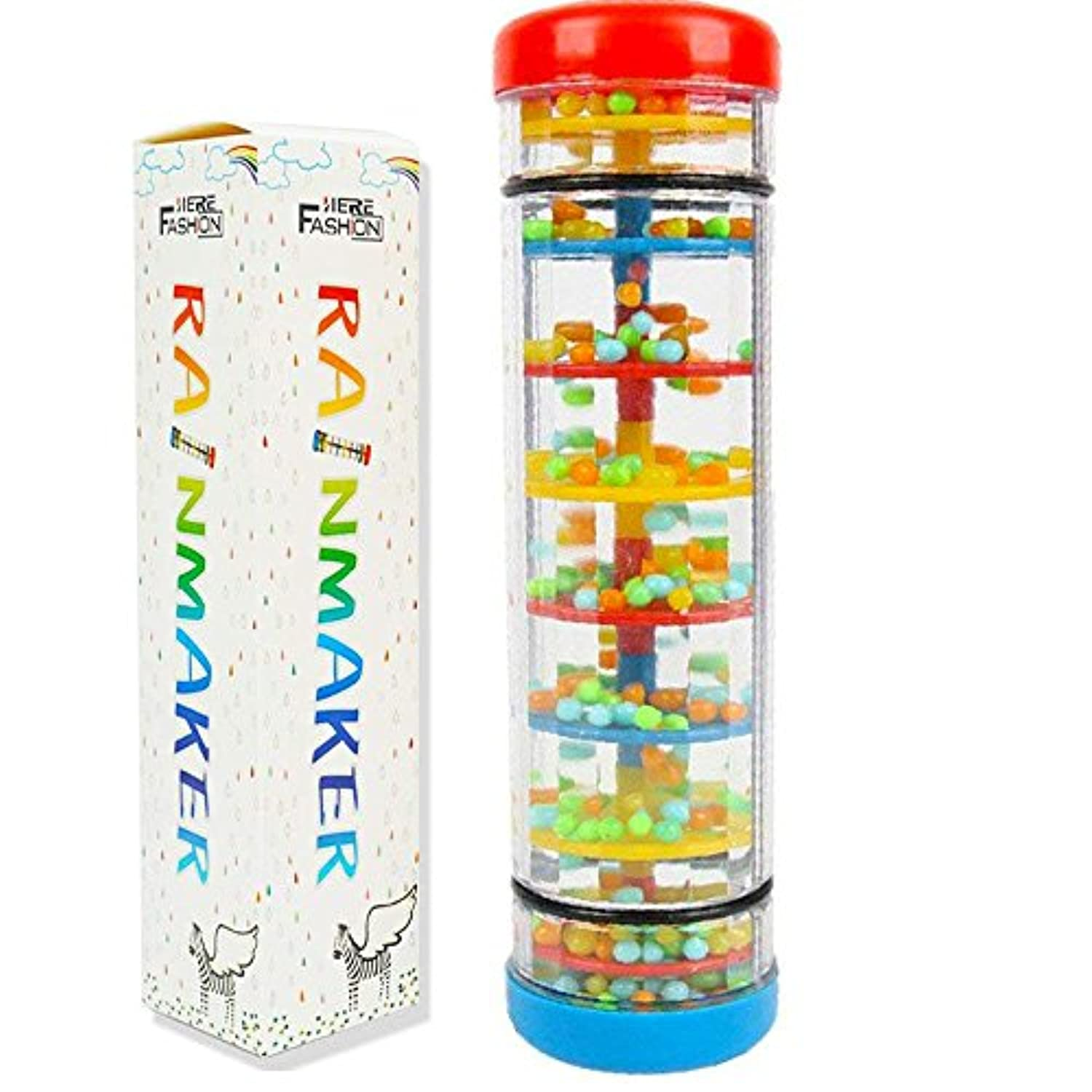(20cm ) - Here Fashion Baby Early Education 20cm Mini Rainmaker Tube Shaker Music Sensory Auditory Instrument Toy