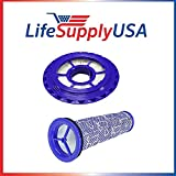 lifesupplyusa 3フィルタキット比較をDyson dc41、dc65、dc66 Post Hepa Filter and Preフィルタパック、アセンブリ# 920769 – 01 & 920640 – 01 by