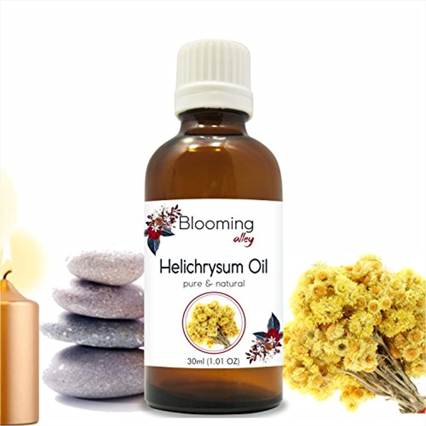 振りかける引っ張る化石Helichyrsum Oil (Helichrysum Italicum) Essential Oil 30 ml or 1.0 Fl Oz by Blooming Alley