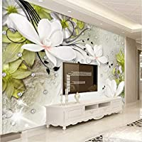 Lcymt カスタム3D写真の壁紙現代のファッション美しい花大壁画のリビングルームのテレビの背景装飾的な壁の壁画の壁紙-150X120Cm