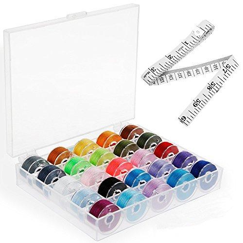 ミシン糸25色セット シン糸 家庭用 手縫い糸 ソーイング糸 U型はさみ 巻き尺