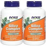 【2個セット】 [海外直送品] NOW Foods シリカコンプレックス 500mg 90粒 Silica Complex 500mg 90tab...