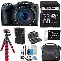 Canon PowerShot sx420is W / 42x光学ズーム付き、内蔵Wi - Fi 32GB高速メモリカード+デラックスカメラケース+柔軟なスパイダー三脚+ digitalandmoreスターターキットDeluxe Accessory Bundle