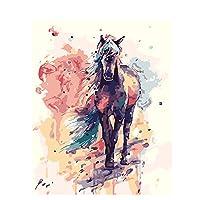 塗装済み完成品馬油絵大人手描きDIYデジタル油絵初心者ホームデコレーションデジタルキット塗装絵量30x40cm