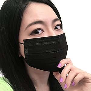【30枚入】黒マスク(ブラックマスク) 男女兼用 (個別包装)活性炭消臭効果