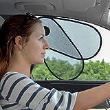 TFY 車 日除け 遮光サンシェード 前部サイドウインドーシェード ワンアクションで広げる 重ねる 車内温度下げ カー 窓  日焼け防止 ほとんどの車に対応  セダン型、フォード、シボレー、ビュイック、アウディ、BMW、本田、マツダ、日産など