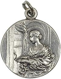 イタリア製メダイ 聖セシリア(St.Cecilia)
