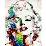 LoveTheFamily 肖像画を描いた 数字油絵 数字キット塗り絵 手塗り DIY絵 デジタル油絵 40x50cm 手芸 画材 手工芸 キット 芸術 工芸 DIY 手作り 装飾品