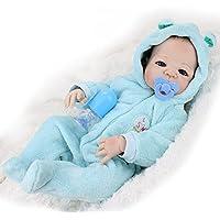 ハンドメイド22インチフルボディSiliconeビニールRebornベビー人形Realistic新生児赤ちゃんwith Magneticおしゃぶりベビー