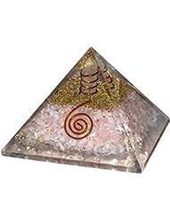 croconローズクォーツOrgoneレイキHealingクリスタルポイントピラミッドチャクラバランシングエネルギージェネレータサイズ: 2.5 – 3インチ