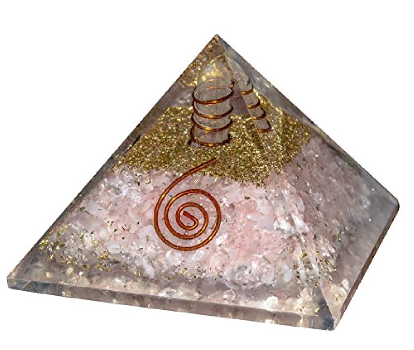 ジャズ博物館キウイcroconローズクォーツOrgoneレイキHealingクリスタルポイントピラミッドチャクラバランシングエネルギージェネレータサイズ: 2.5 – 3インチ