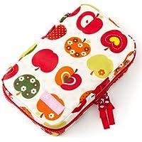 お食事セット用ポーチ 赤ちゃん 外出 日本製 おしゃれリンゴのひみつ(スケアー地?アイボリー) B2403800