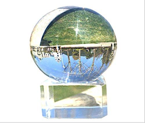 Waltz&F直径60mmクリア水晶玉 多色クリスタルボールスタンド付き インテリア 開運グッズ 装飾置物